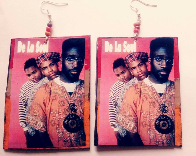 Unique 90s hip hop De La Soul earrings