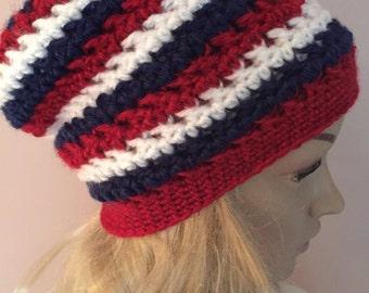 Slouchy Hat - Patriotic