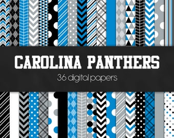 Carolina Panthers Digital Paper Pack - INSTANT DOWNLOAD