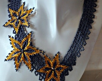 "handmade Necklace ""Star Night"""