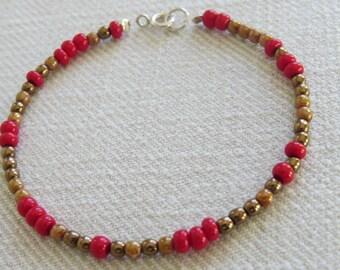 Czech Glass Seed Beaded Bracelet