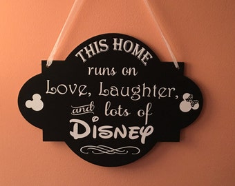 This home runs on DISNEY Wall Hanging