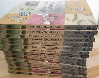 Stamped Metal Jewelry  - Metal Stamping Intro Book and DVD set of 15 books