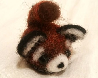 Dancing Pumpkin (felted Red Panda lavender aromatherapy doll)