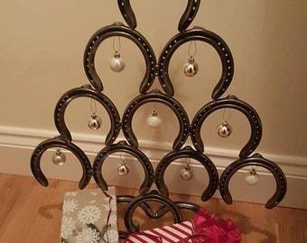 Four tier horseshoe Christmas tree