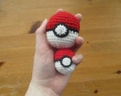 Cute Pokemon Pokeball Inspired Anime Toy Car Charm Amigurumi Plushie Accessory Key chain Hand Crochet Handmade