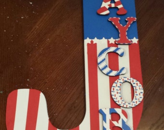 18 inch wood letter captain american wall plaque sign