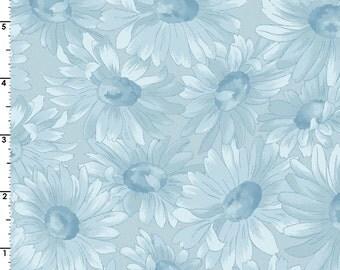 Gentle Breeze - Per Yd - Maywood Studio - Blue Daisy Tonal