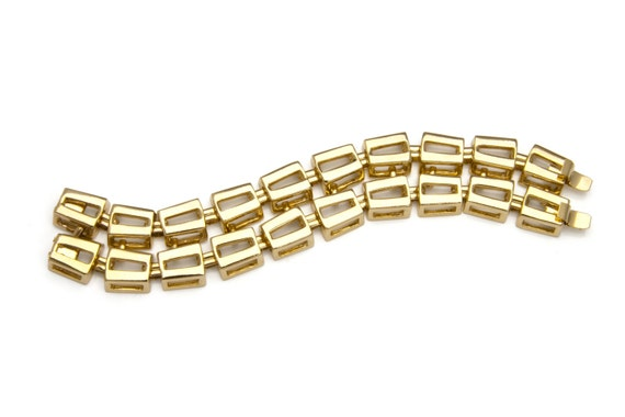 Beautiful Double Rectangle Chain Link Bracelet