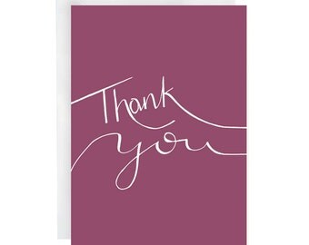 Thank You Card - greeting cards - thank you cards - thank you note - thank you letter