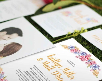 Wedding Program // Wedding Order of Service // Ceremony Program // Floral Affair