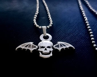 New Avenged Sevenfold Necklace A7 Angel 925 Silver Coated Pendant