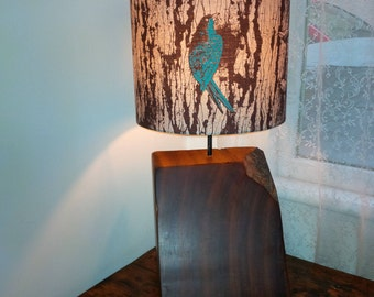 Rustic lamp base - wooden