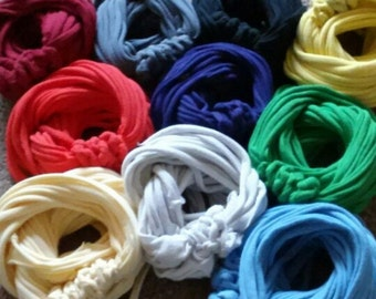 Recycled T-shirt Infinity scarves