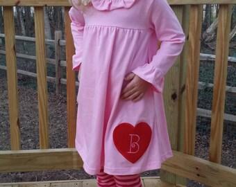 Valentine's Day Monogram Initial Tunic and Legging Set