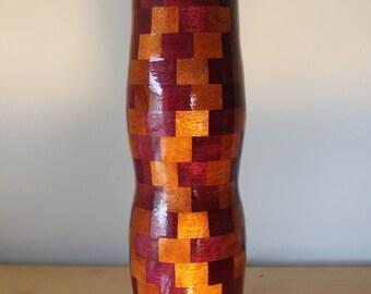 lamp lighting light pupleheart mahogony handmade segmened