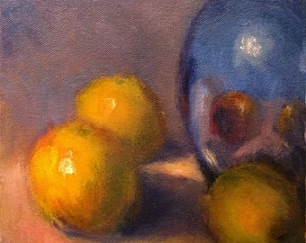 4, Still life (6x6 oil painting)