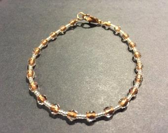 Exclusive - rose gold beaded bracelet