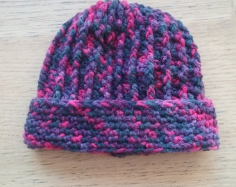 Child sized ForestFruits Inspired hand crocheted hat to fit sizes 34-38cm.