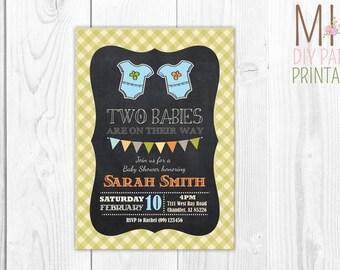 Twin Invitation_4,Twins Baby Shower Invitation,Twins Shower Invitation, Baby Shower for Twins,Twins Birthday Party Invitation,twin party
