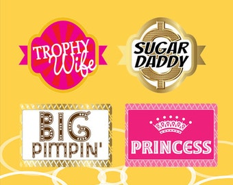 Party Photo Booth Props | Party Props | Party Signs | Photo Booth Props | Prop Signs | ATP#6