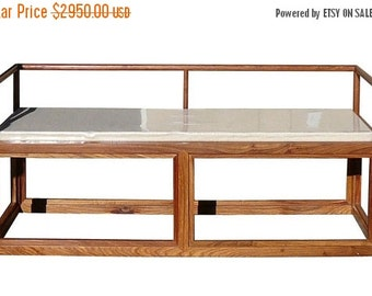 25% OFF SALE Rosewood Chinese Simple Zen Design Daybed Bench Chair cs1190E