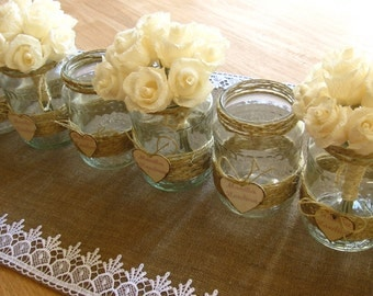 wedding table decorations, RUSTIC IVORY flowers, wedding bouquet,