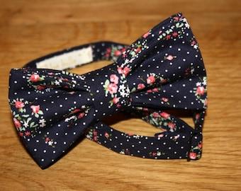 Bow tie man flower Navy Blue
