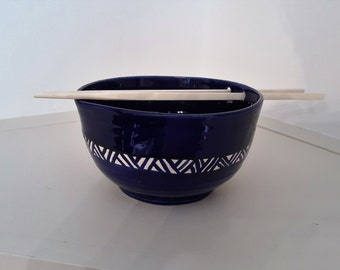 Chop Stick Bowl; Noodle/Rice Bowl With Holes for Holding Chopsticks