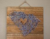 Made to Order, Custom, State String Art, South Carolina