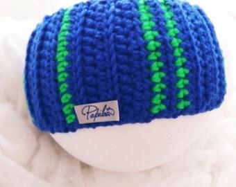 Headband blu fluo and acid green