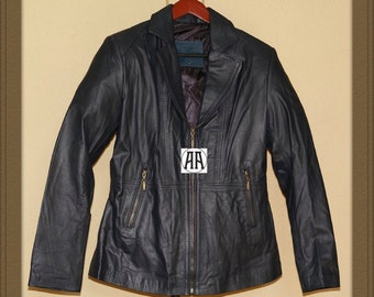 Lina: Light weight, Full grain Calf Skin Leather Jacket for Women