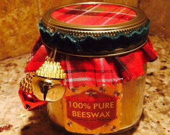100% Beeswax Holiday Candles !