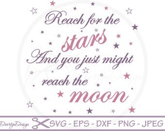 SVG quotes, svg files sayings, Stars cutting files SVG quotes, clipart quote, silhouette quote stars, vinyl cut files, instant download, EPS