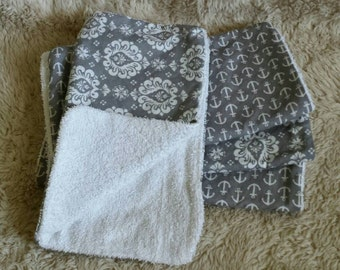 Infant Burp Cloths- Diaper Bag Size