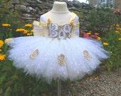 Halloween Dress Halloween Costume Ghost Dress Ghost Costume Gold Dress Flower Girl Dress Bridesmaid Dress Handmade Party Dress