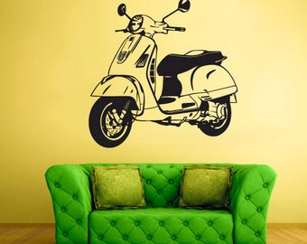 rvz1394 Wall Decal Vinyl Sticker Decals Scooter Bike Motocycle Moto Retro