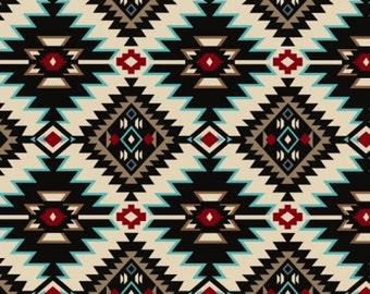 """Fleece Fabric Native American Blanket Fabric Shadow Diamonds Style 36500 60"""" Wide"""