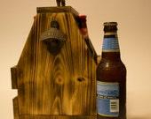 pallet wood bottle carrier, bottle barrier, 6 pack holder, wood 6 pack holder, wood bottle carrier, custom bottle carrier