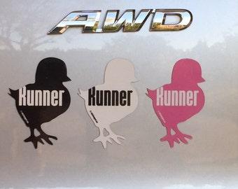 Runner Chick Car Magnet