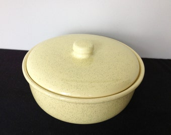 Vintage Bauer Covered Casserole Dish
