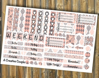 Paisley Peach Weekly Spread Assortment ECLP Stickers