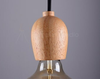 Woody 01 – Single Bulb Wood Pendant