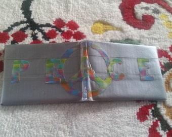 original, tye-dye duct tape bi-fold wallet