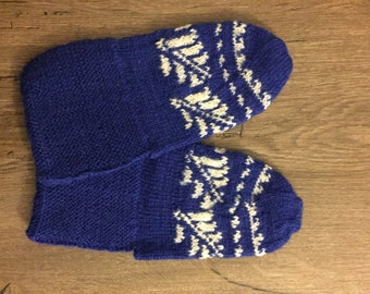 Turkish traditional handmade knitted bootees