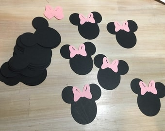 Minnie Mouse Paper Cut-Outs 3 Inches (set of 20)