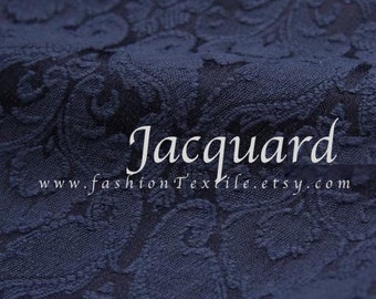 Navy Blue. Damask Jacquard in solid color. FTD100106