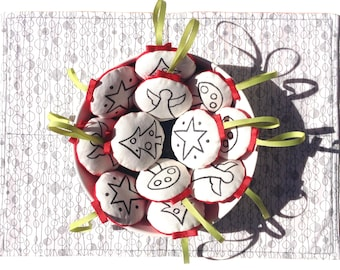 Christmas Ornament, Handmade Ornament, Fabric Ornament, Christmas Decoration
