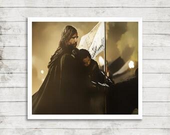 Arya stark and the hound - Game of thrones fanart digital print