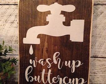 Wash sign | Farmhouse bath | bathroom decor | bathroom sign | farmhouse decor